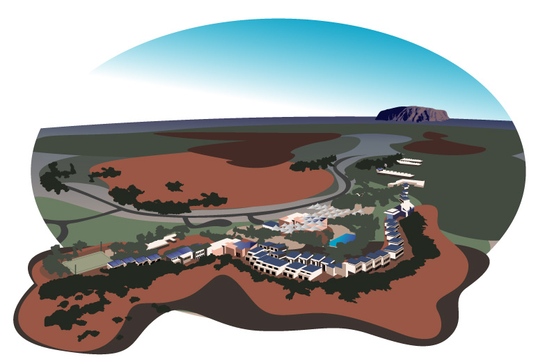 Ayers Rock Resort in the town of Yulara  |  Graphics and Copyrights  by Goholi Team ©