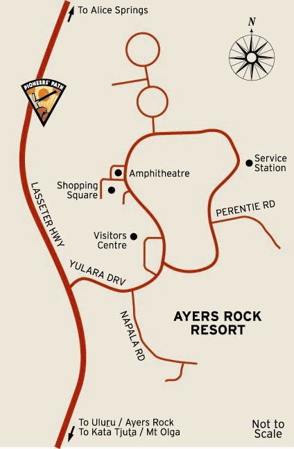 Map of Ayers Rock Resort | Credits NTTC